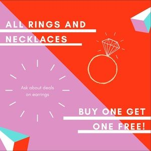 Jewelry - Buy one get one free rings and necklaces